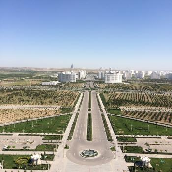 View from the Monument Arch of Neutrality, Ashgabat
